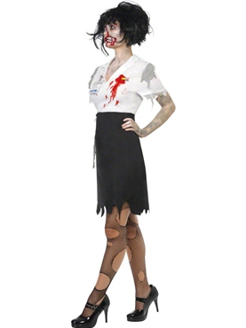 Adult Worked to Death Zombie Female Costume - Back View