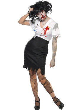 Adult Worked to Death Zombie Female Costume