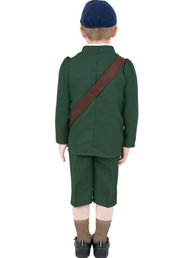 Child World War II Evacuee Boy Costume - Side View