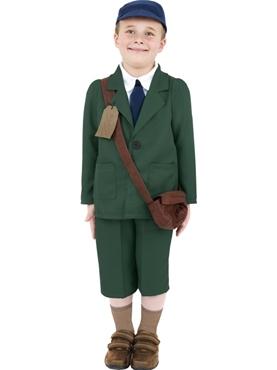 Child World War II Evacuee Boy Costume Couples Costume