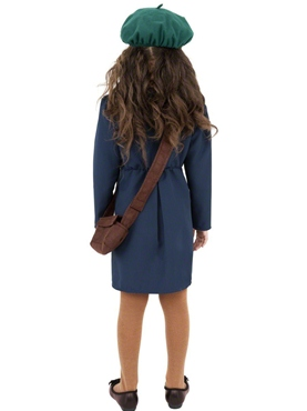 Child World War II Evacuee Girl Costume - Side View