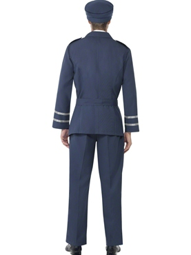 Adult WW2 Air Force Male Captain Costume - Side View