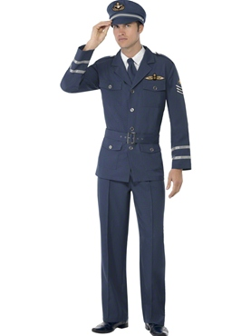 Adult WW2 Air Force Male Captain Costume Thumbnail