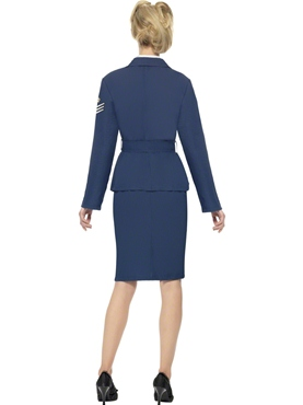 Adult WW2 Air Force Female Captain Costume - Side View