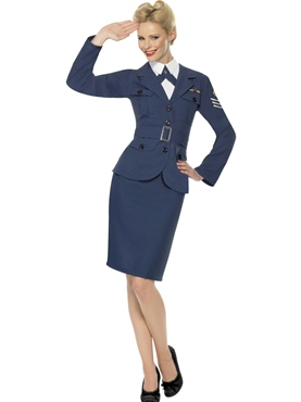 Adult WW2 Air Force Female Captain Costume Thumbnail