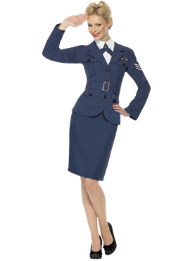 Adult WW2 Air Force Female Captain Costume Couples Costume