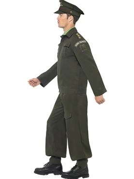 Adult WW2 Dads Army Costume - Back View