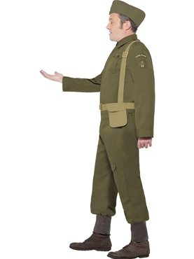 Adult WW2 Home Guard Private Costume - Back View