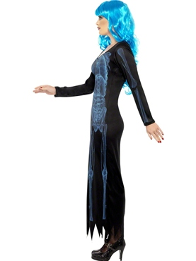 Adult Ladies X Ray Dress Costume - Back View