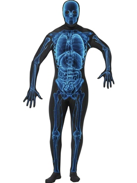 Adult X-Ray Second Skin Suit Costume