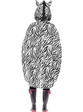 Zebra Party Poncho Festival Costume - Side View