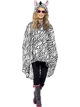 Zebra Party Poncho Festival Costume