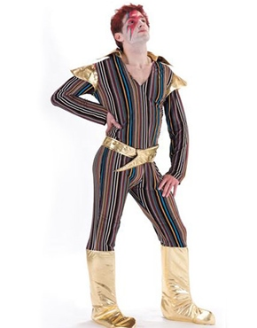 Adult Ziggy Stardust David Bowie Costume