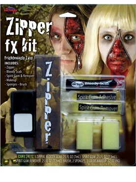 Zipper FX Make Up Kit - Back View