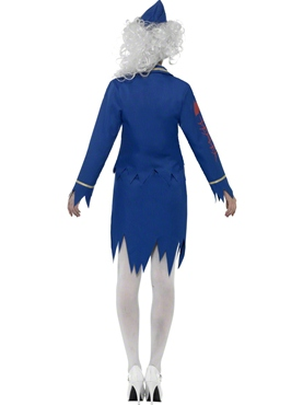 Adult Zombie Air Hostess Costume - Side View