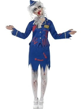 Adult Zombie Air Hostess Costume