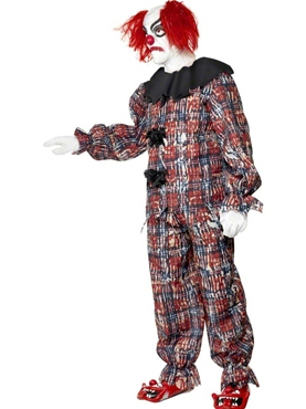 Adult Zombie Alley Clown Costume - Side View