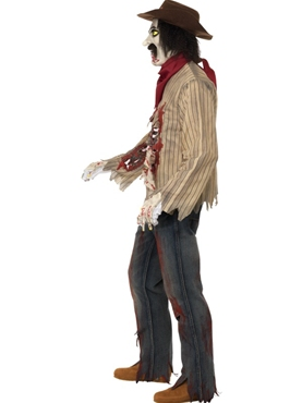 Adult Zombie Cowboy Costume - Back View