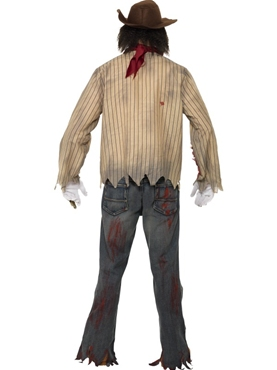 Adult Zombie Cowboy Costume - Side View