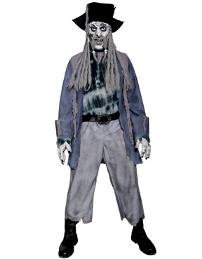 Adult Zombie Alley Ghost Pirate Costume