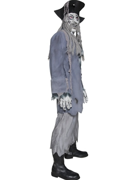 Adult Zombie Alley Ghost Pirate Costume - Back View