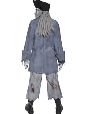 Adult Zombie Alley Ghost Pirate Costume - Side View