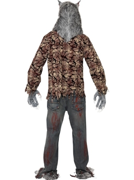 Adult Zombie Alley Werewolf Costume - Side View