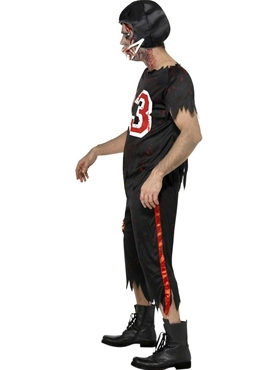 Adult Zombie American Footballer Costume - Side View