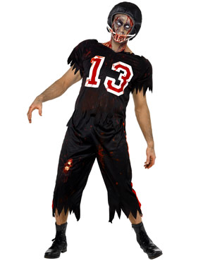 Adult Zombie American Footballer Costume Thumbnail