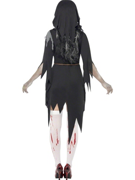 Adult Zombie Bloody Mary Costume - Side View