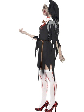 Adult Zombie Bloody Mary Costume - Back View
