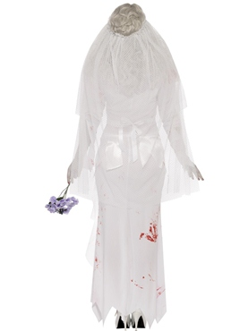 Adult Zombie Bride Costume - Side View