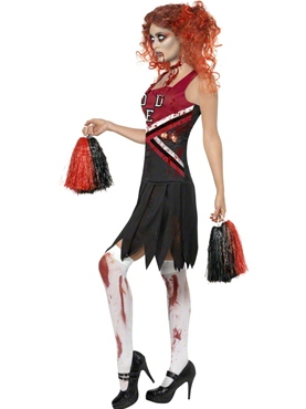 Adult Zombie Cheerleader Costume - Side View