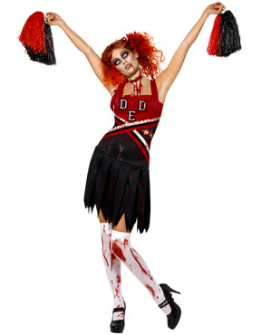 Adult Zombie Cheerleader Costume Thumbnail