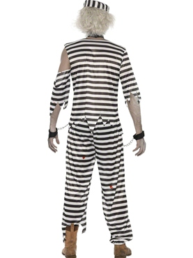 Adult Zombie Convict Male Costume - Side View