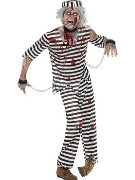 Adult Zombie Convict Male Costume