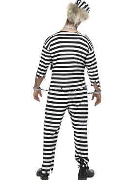 Zombie Convict Costume - Back View