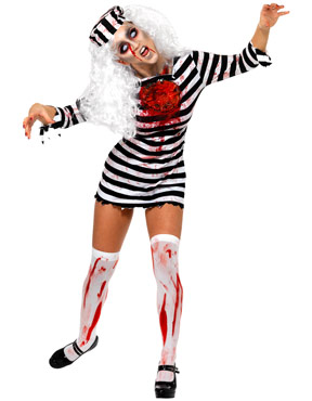 Adult Zombie Convict Lady Costume Thumbnail