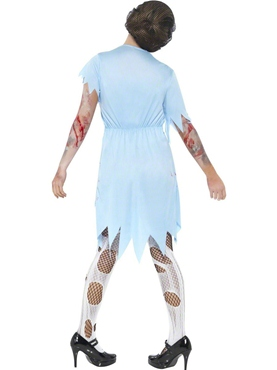 Adult Zombie Dinner Lady Costume - Side View
