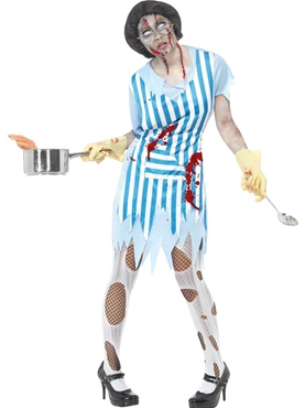 Adult Zombie Dinner Lady Costume