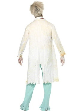 Adult Zombie Doctor Costume - Back View