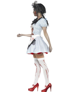 Adult Zombie Dorothy Costume - Back View