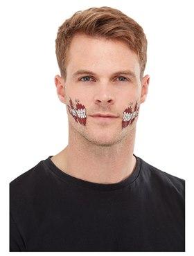 Zombie Face Transfer Makeup Kit - Back View