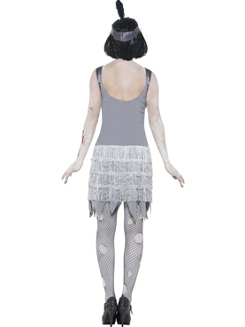 Adult Zombie Flapper Dress Costume - Side View