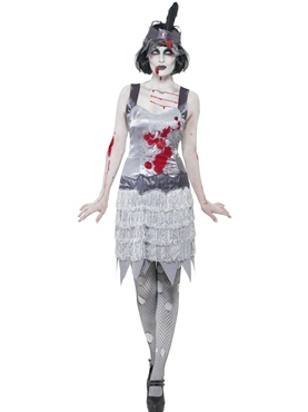 Adult Zombie Flapper Dress Costume