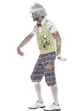 Adult Zombie Golfer Costume - Back View