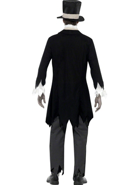 Adult Zombie Groom Costume - Side View