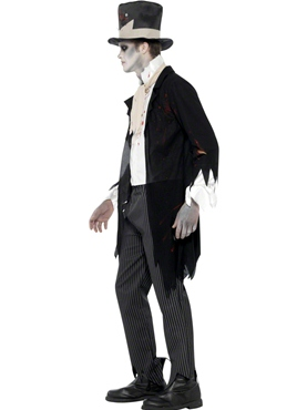 Adult Zombie Groom Costume - Back View