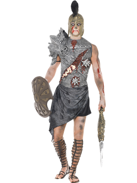 Adult Zombie Male Gladiator Costume Couples Costume