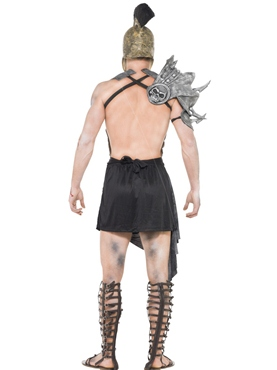Adult Zombie Male Gladiator Costume - Side View